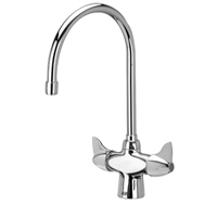 "Z826C3-XL - AquaSpec® lab faucet with 8"" gooseneck and dome lever handles"