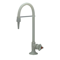 Z82900 - AquaSpec® polypropylene lab faucet with serrated nozzle for distilled water