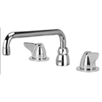 """AquaSpec® widespread faucet with 12"""" tubular spout and dome lever handles"""
