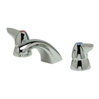 "Z831R3-XL-P - AquaSpec® widespread faucet with 5"" cast spout, dome lever handles and pop-up drain"