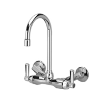 "Z841B1-XL - AquaSpec® wall-mount service sink faucet with 5-3/8"" gooseneck and lever handles (lead free)"