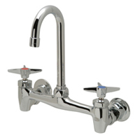 "Z843A2 - AquaSpec® wall-mount sink faucet with 3-1/2"" gooseneck and cross handles"