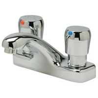 """Z86500-XL-P - AquaSpec® 4"""" centerset deck-mount temperature control metering faucet with pop-up drain"""