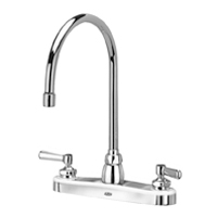 "Z871C1-XL - AquaSpec® kitchen sink faucet with 8"" gooseneck and lever handles"