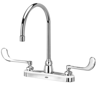 "Z871C6-XL - AquaSpec® kitchen sink faucet with 8"" gooseneck and 6"" wrist blade handles"