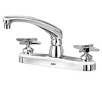 """Z871G2-XL - AquaSpec® kitchen sink faucet with 8"""" cast spout and cross handles"""