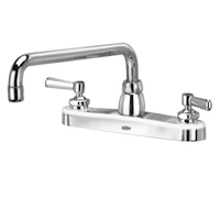 "Z871H1-XL - AquaSpec® kitchen sink faucet with 12"" tubular spout and lever handles"