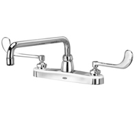 """AquaSpec® kitchen sink faucet with 12"""" tubular spout and 6"""" wrist blade handles"""