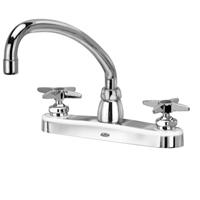 "Z871J2-XL - AquaSpec® kitchen sink faucet with 9-1/2"" tubular spout and cross handles"