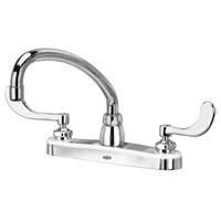 "Z871J4-XL - AquaSpec® kitchen sink faucet with 9-1/2"" tubular spout and 4"" wrist blade handles"