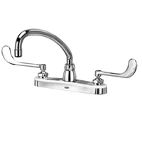 "Z871J6-XL - AquaSpec® kitchen sink faucet with 9-1/2"" tubular spout and 6"" wrist blade handles"