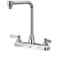 """Z871S1-XL - AquaSpec® kitchen sink faucet with 8"""" bent riser spout and lever handles"""