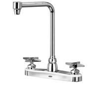 "Z871S2-XL - AquaSpec® kitchen sink faucet with 8"" bent riser spout and cross handles"