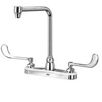 "Z871S6-XL - AquaSpec® kitchen sink faucet with 8"" bent riser spout and 6"" wrist blade handles"
