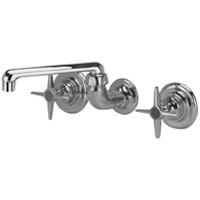 """Z873F2-SE-11F - AquaSpec® service sink faucet with 8-5/8"""" cast spout, cross handles, concealed valve"""