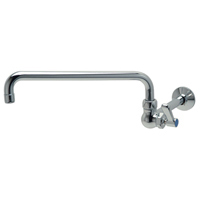 """AquaSpec® wall-mount lab faucet with 12"""" tubular spout and lever handle"""