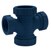Z9A-PTTR-2X112 Reducing Double Sanitary Tee for Acid Waste