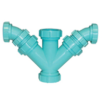 Z9A-YYRB Chemical Drainage Combination Reducing Double Wye and 45-Degree Elbow