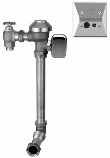 Concealed Hardwired Automatic Sensor Flush Valve
