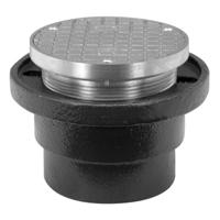 Adjustable Round Heavy-Duty Nickel Bronze Cleanout