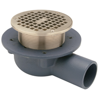 """Shallow Body Floor Drain with Side Outlet and """"Type B"""