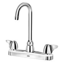 """AquaSpec® kitchen sink faucet with 3-1/2"""" gooseneck and dome lever handles"""