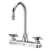 "Z871B2-XL - AquaSpec® kitchen sink faucet with 5-3/8"" gooseneck and cross handles"