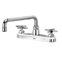 "Z871H2-XL - AquaSpec® kitchen sink faucet with 12"" tubular spout and cross handles"